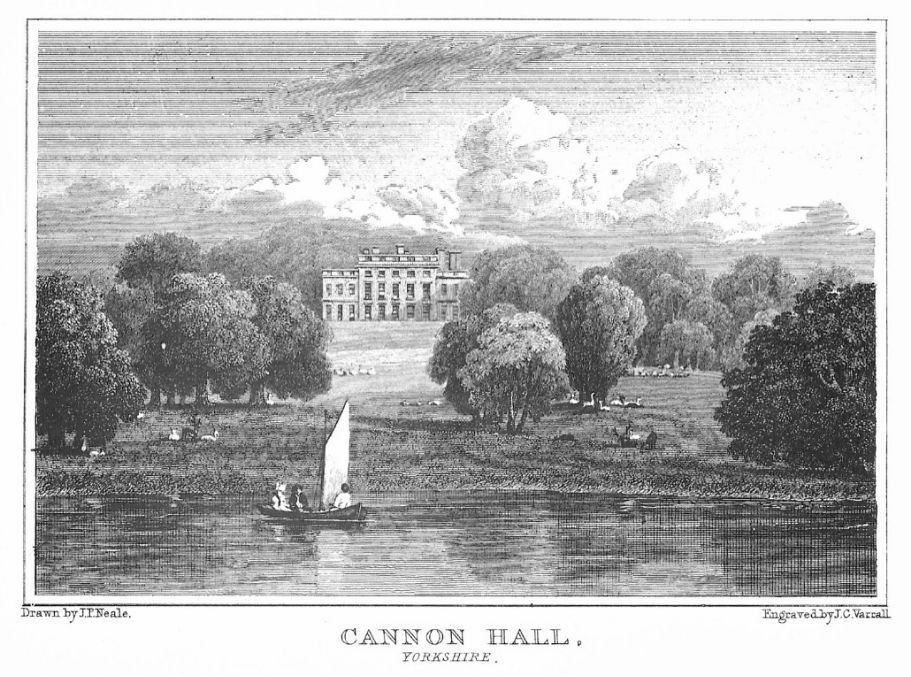 Cannon Hall boating lake in 1756